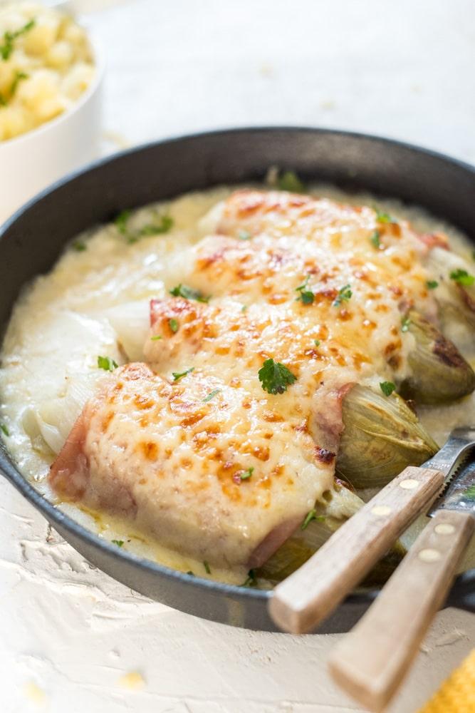 witloof met kaas en hesp