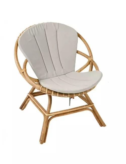 coussin pour fauteuil en rotin brigitte