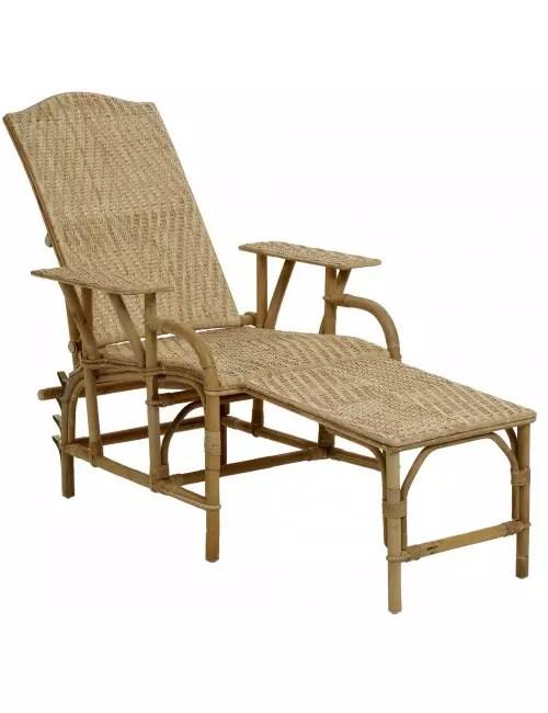 chaise longue en rotin grand mere