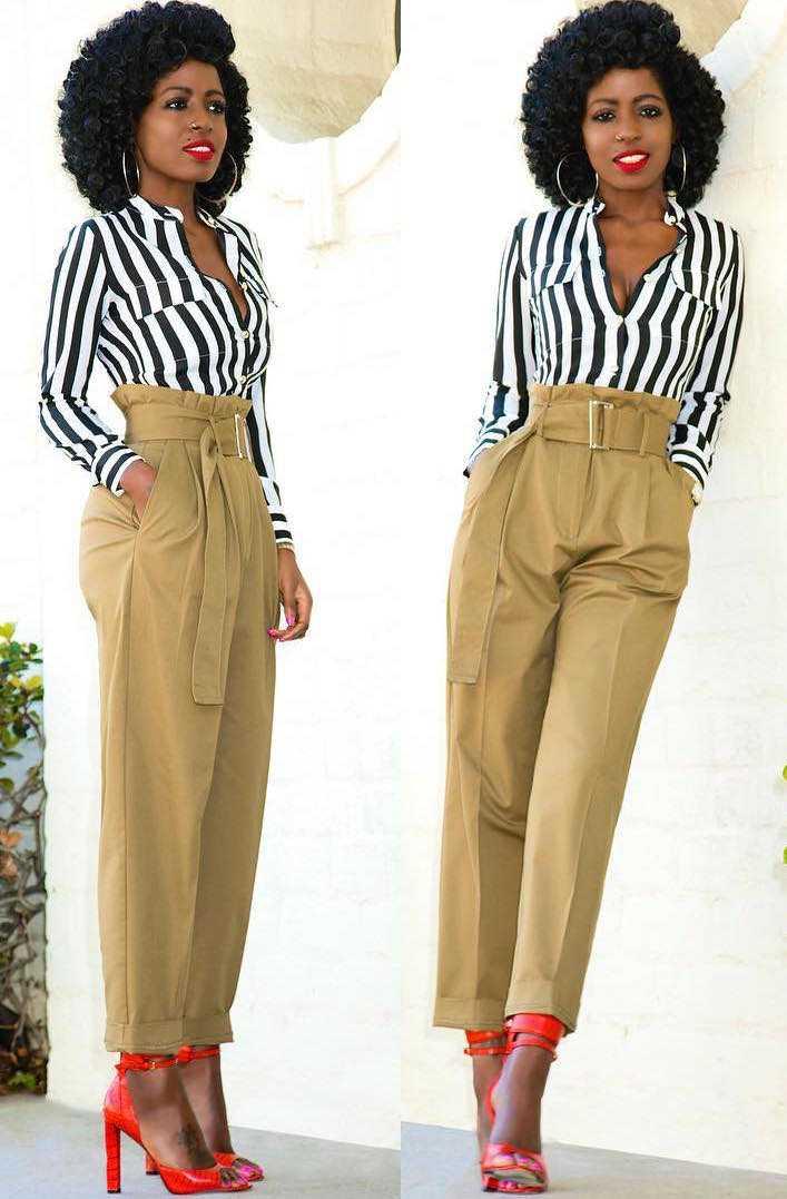 Folake Huntoon Is Chic In Stripes