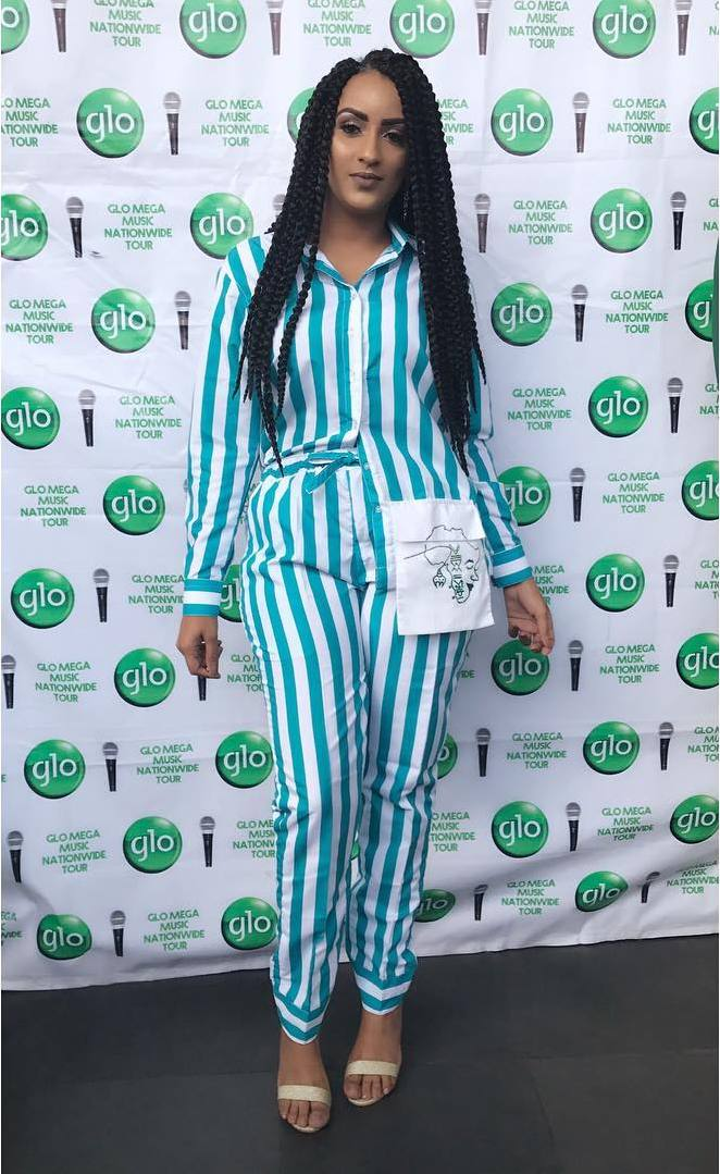 Who What Wear: Juliet Ibrahim Wows In A Striped Pyjamas By Joe Pagatanga 1