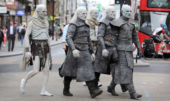 Winter Is Coming! White Walkers Descend Upon The City Of London 2
