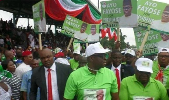 Ayo Fayose Launches 2019 Presidential Campaign At PDP Convention 2