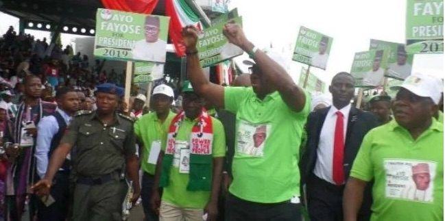 Ayo Fayose Launches 2019 Presidential Campaign At PDP Convention 1