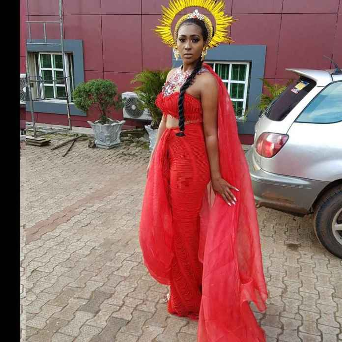 """Lilian Esoro Turns Goddess Of Wealth In Colourful Costumes For """"Somto"""" Movie 4"""