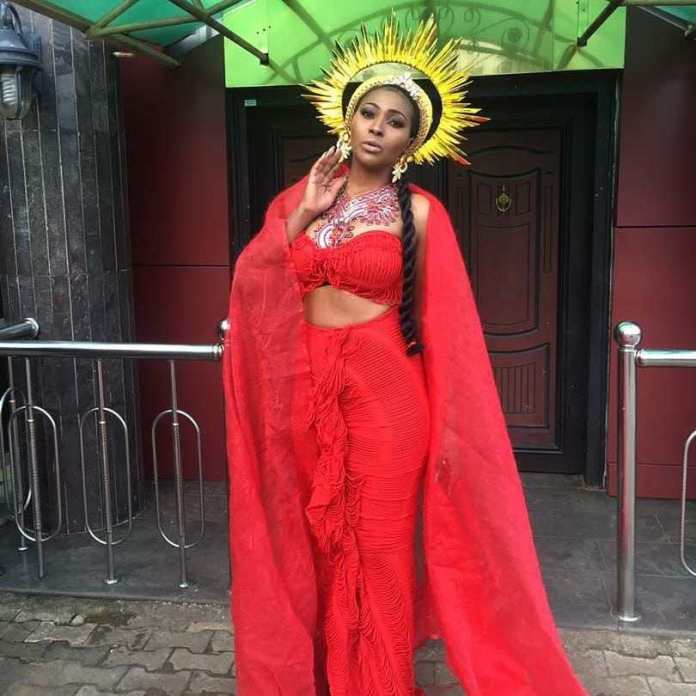 """Lilian Esoro Turns Goddess Of Wealth In Colourful Costumes For """"Somto"""" Movie 2"""