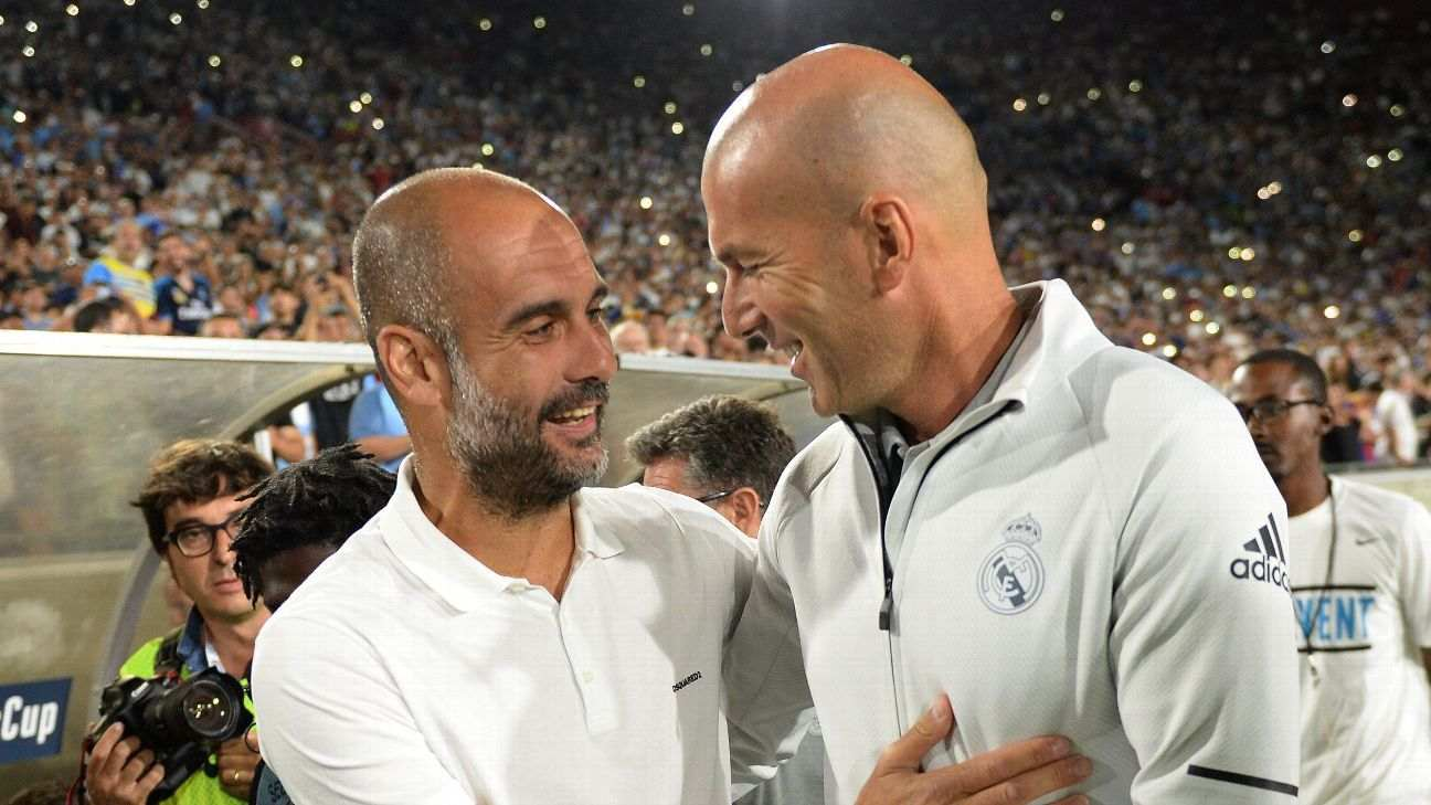 This Is What Pep Guardiola Has To Say Zidane S Shock Real Madrid Exit