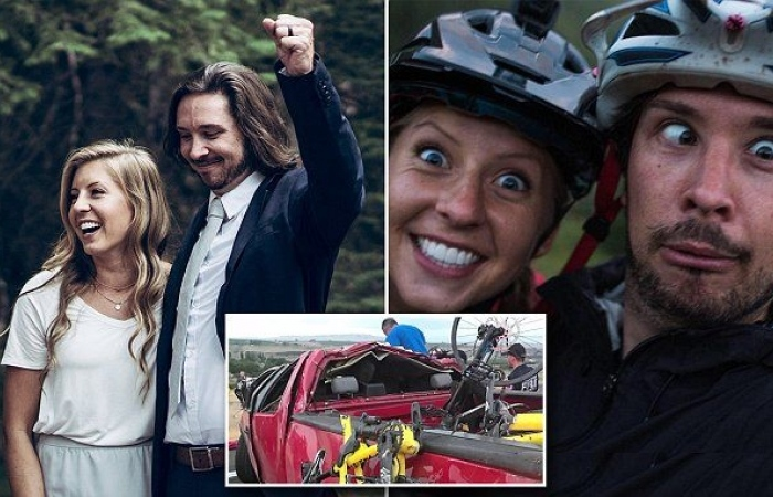 Image result for newlywed couple killed on way to honeymoon