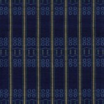 2007 藍地緯絣花織着物