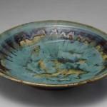 2009 緑釉指描大皿 11×57×57