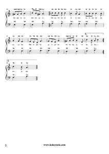 Her Şey Bitmedi Bitemez - Kolay Piyano Notası