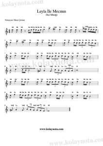 Leyla İle Mecnun - Kolay Notası