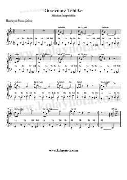 Görevimiz Tehlike Piyano Notası