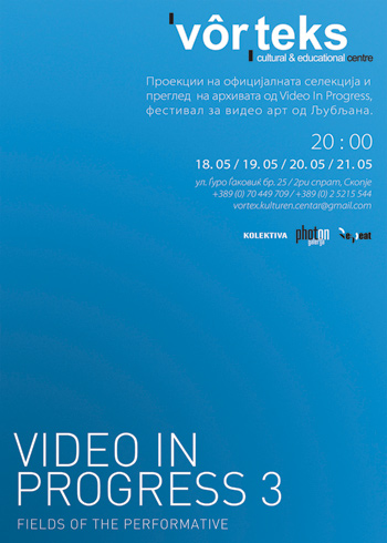 Video in Progress 3 poster for exhibition in Vorteks