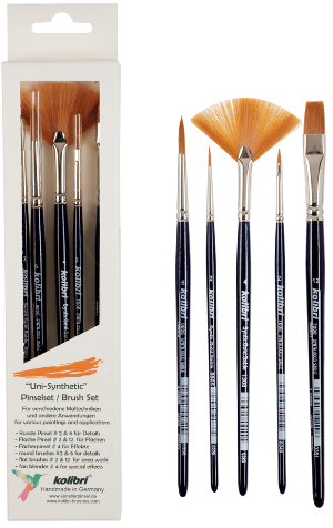 brush kit for art and craft