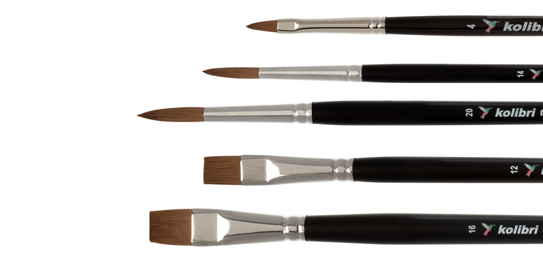 synthetic brushes for acrylic and oil paints