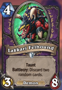 Lakkari Felhound Hearthstone
