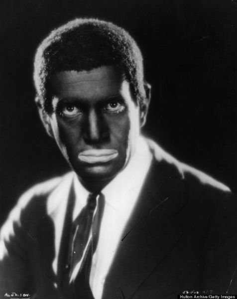 Al Jolson with backface in the Jazz Singer (Photo by Julton Archive/Getty Images)