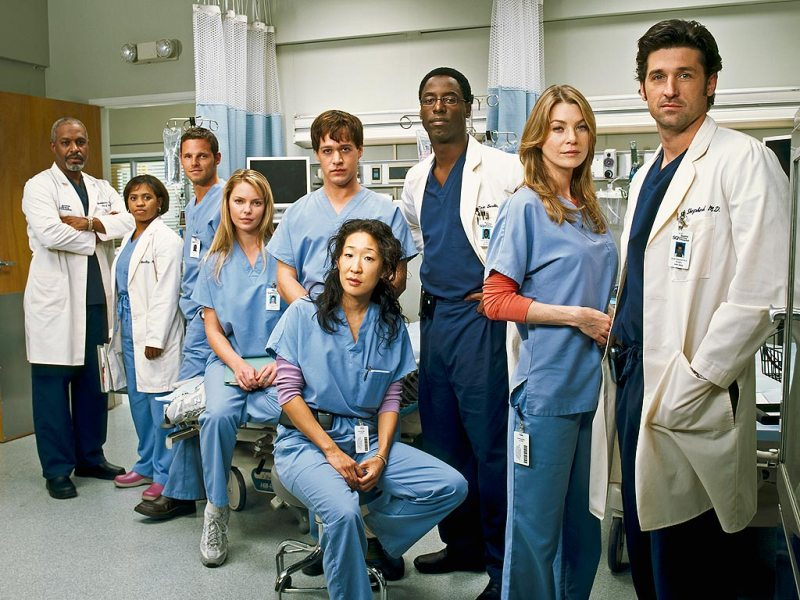 Color-blind cast of Grey's Anatomy (Photo by Frank Ockenfels/ABC/Getty)