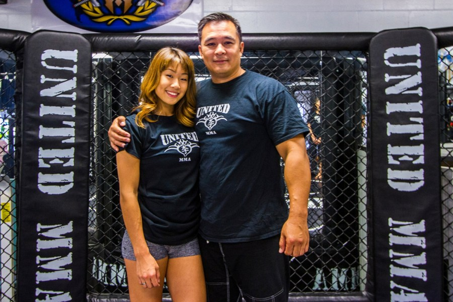 """""""It's always hard. Before I'm a coach, I'm a dad."""" - Ken Lee. """"He is very traditional in the values he teaches me, and it's just to be a good person."""" - Angela Lee"""