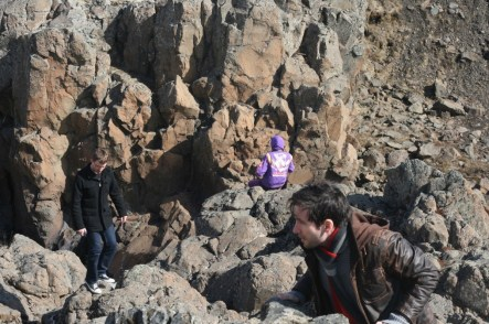 Isolation Game Jam 2014, climbing in the rocks