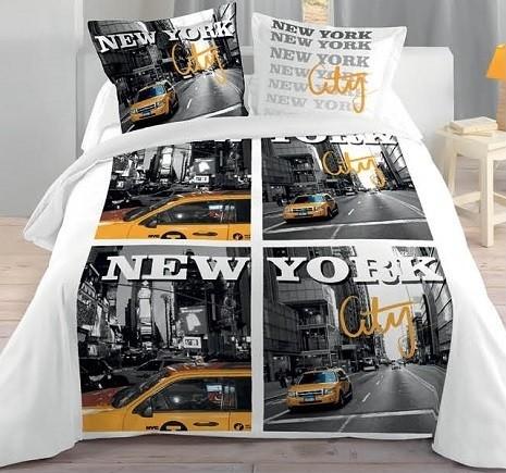 New York City Housse Couette 2 Taies Deco Ado Urbaine Kolorados