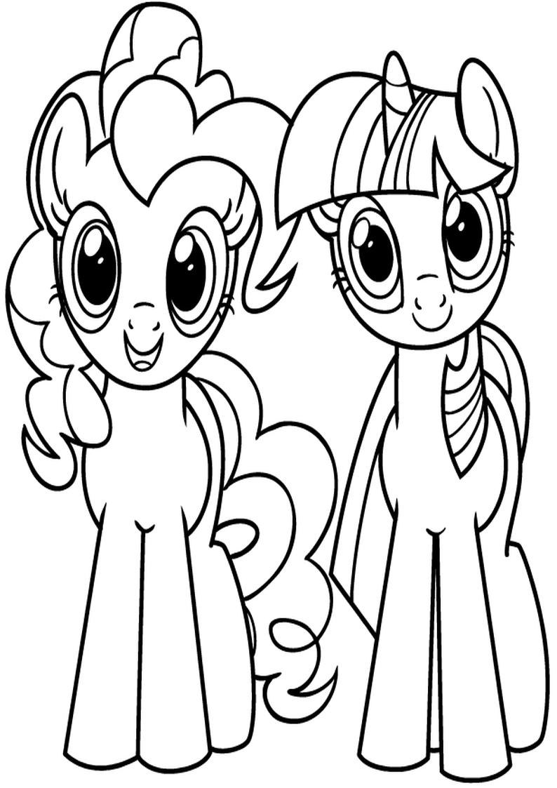 Twilight Sparkle I Pinkie Pie Kolorowanka My Little Pony Nr 7