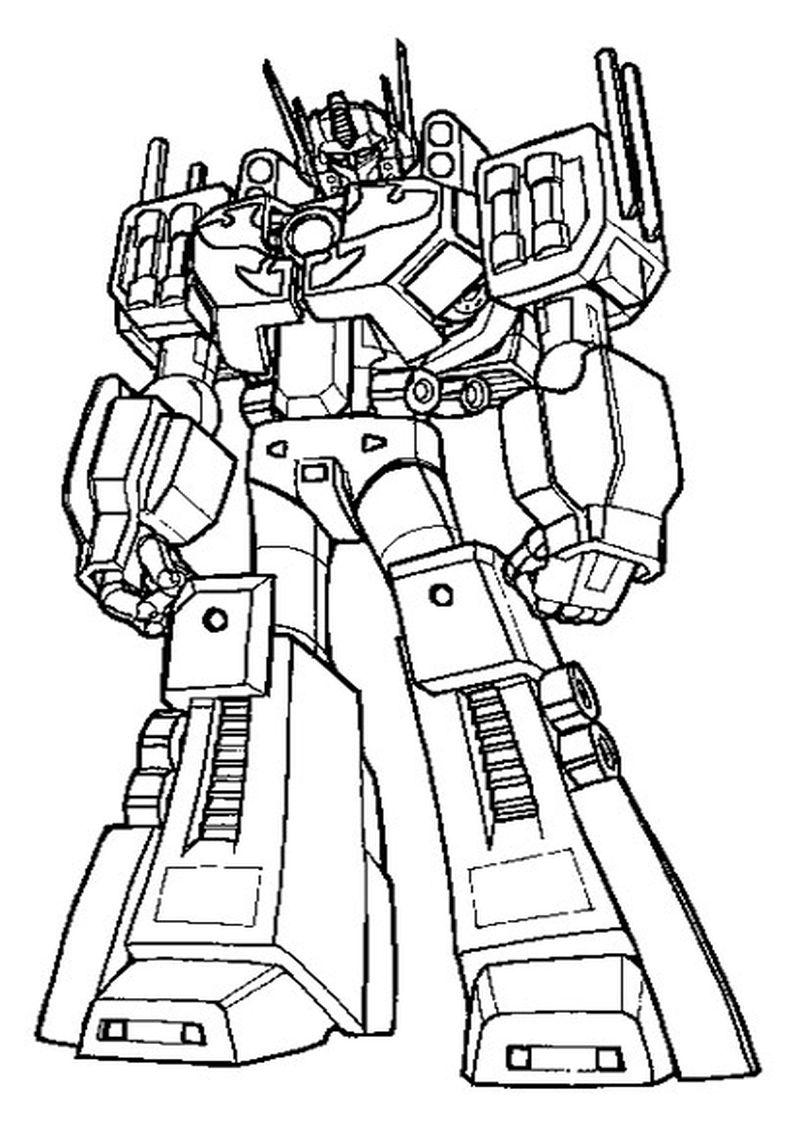 Najlepsza Kolekcja Kolorowanki Transformers Optimus Prime