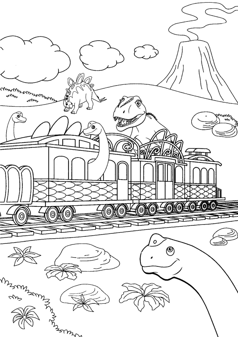 dinosaur train conductor pages coloring pages