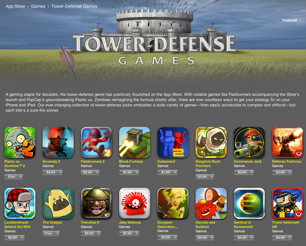 Tower Defense Apps