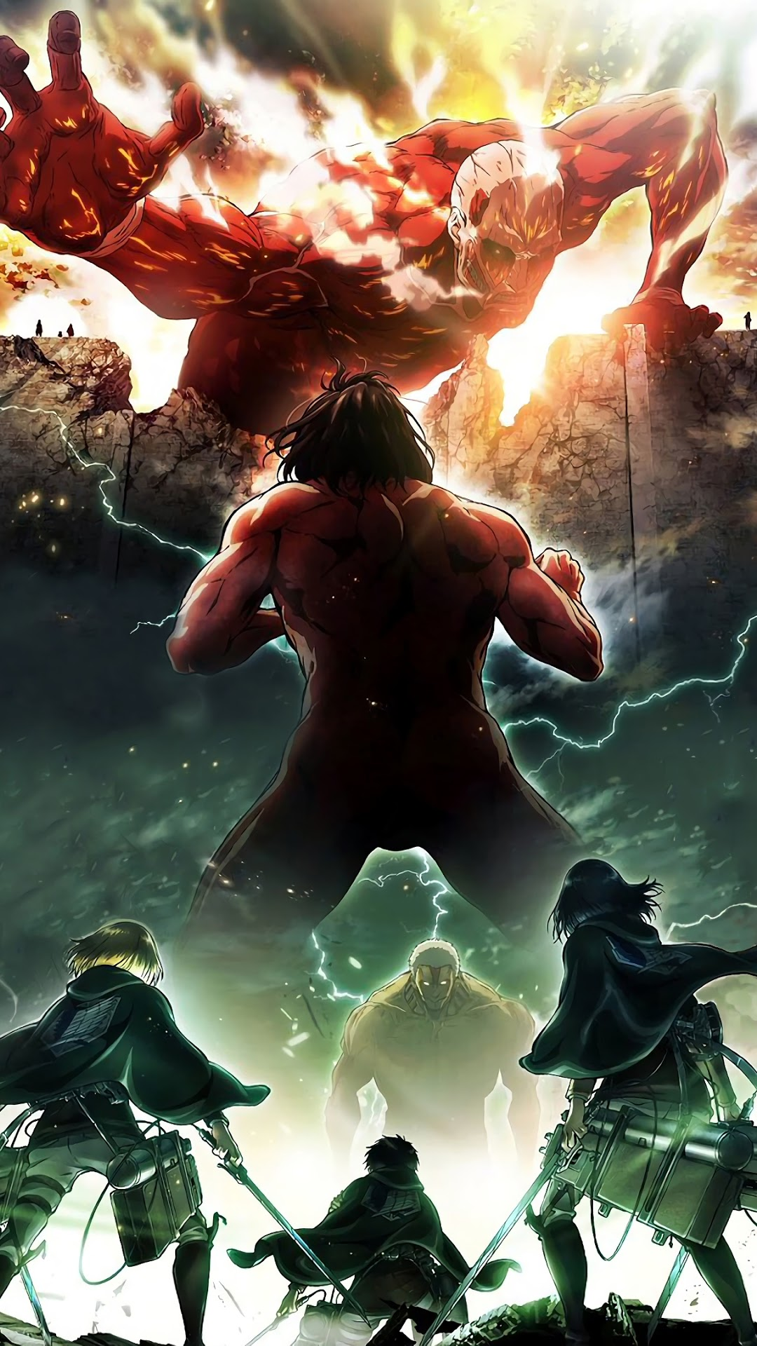 On april 15, 1912, the titanic entered history as one of the most notorious disasters at sea when the unsinkable ship struck an iceberg. Iphone Attack On Titan Wallpaper - KoLPaPer - Awesome Free ...