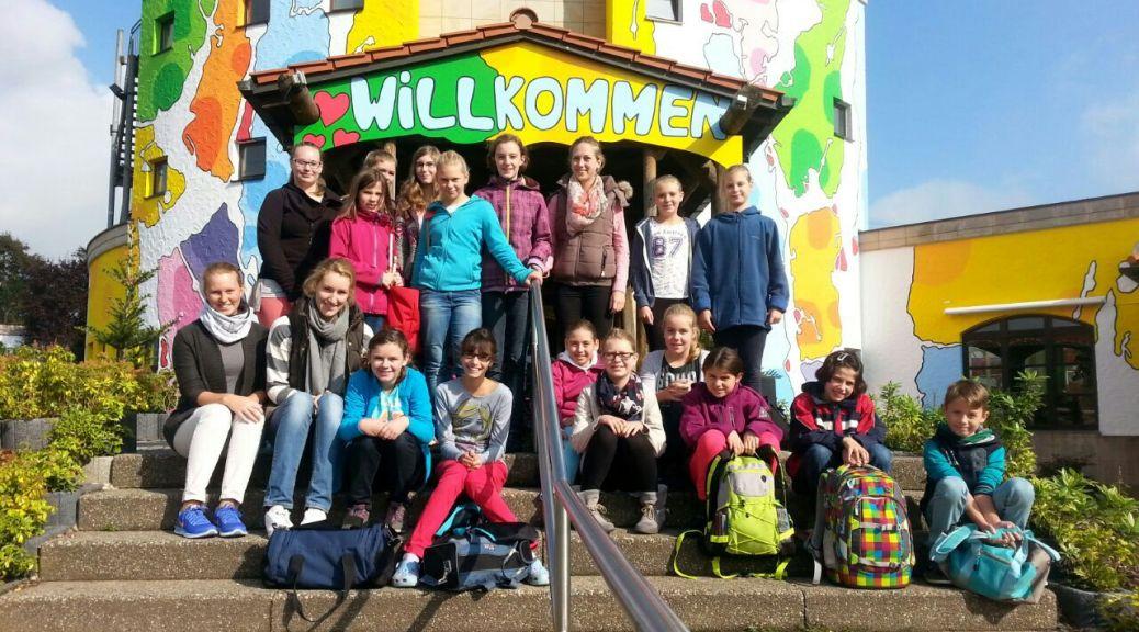Jahresausflug Kolpingjugend Aqualand Köln Schwimmen Kinder