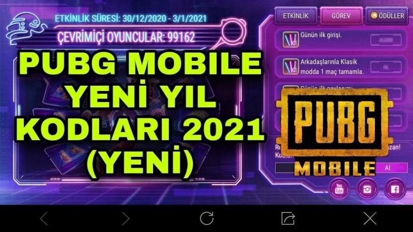 Pubg Mobile Yılbaşı Kodları 2021