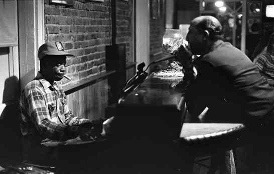 A piano player on Bourbon Street. Harold F. Baquet