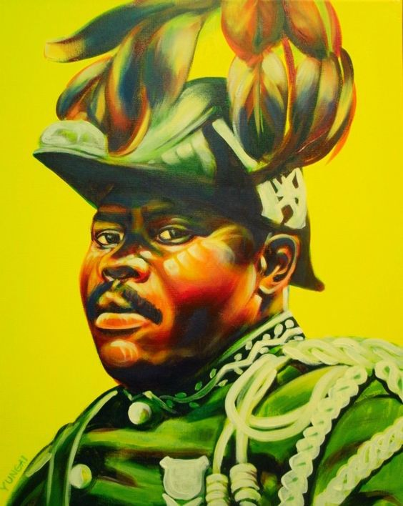 Marcus Mosiah Garvey painted by Muhammad Yungai