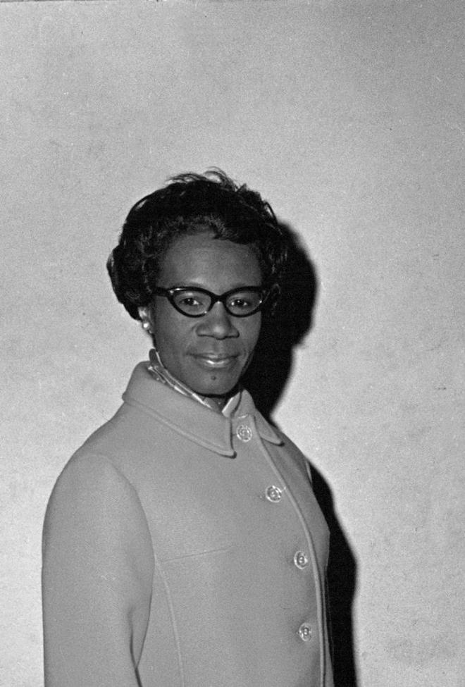 Shirley Chisholm (D-N.Y.), running in the 12th Congressional District in Brooklyn for a seat in the House of Representatives, is shown on Election Day, Nov. 5, 1968. Chisholm was elected and became the first black woman representative to serve in Congress. (AP Photo)