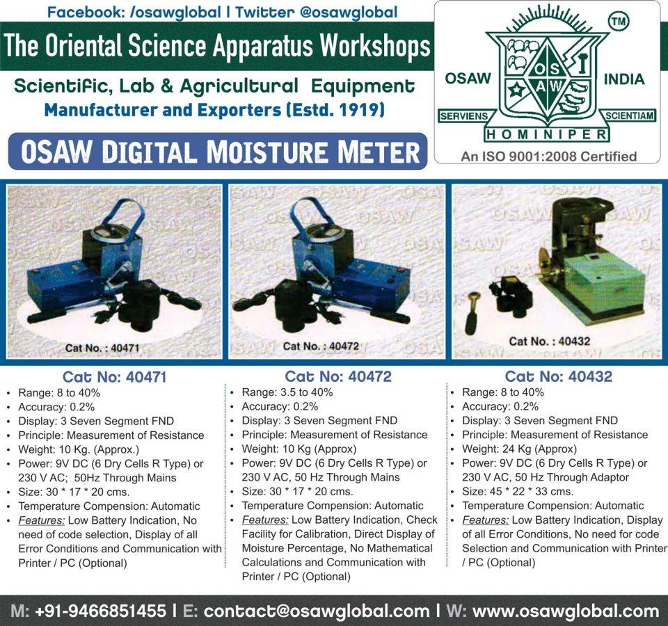 OSAW Moisture Meter India