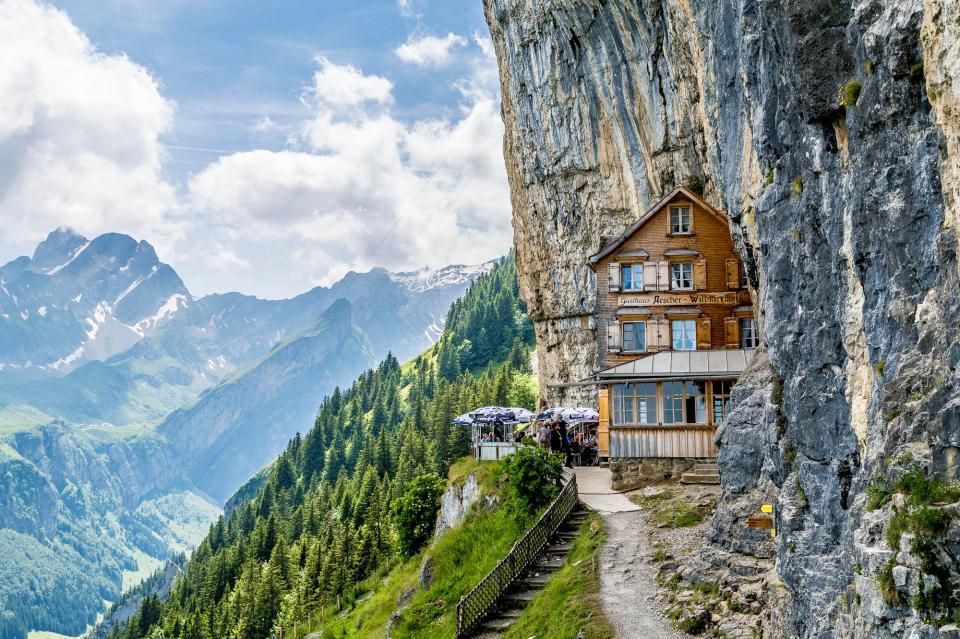Äscher Cliff, Switzerland