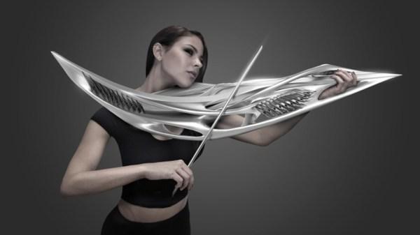 This insane sci-fi violin looks like an alien creature ...