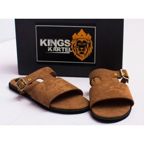 Brown Bruze Slide On Sandals For Sale In Nigeria