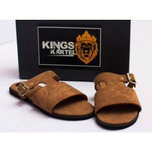 Brown Bruze Slide On Sandals For Sale In Nigeria