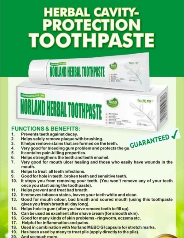 Herbal Cavity Protection Toothpaste For Your Teeth For Sale