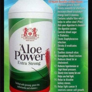 Aloe power for your general good health