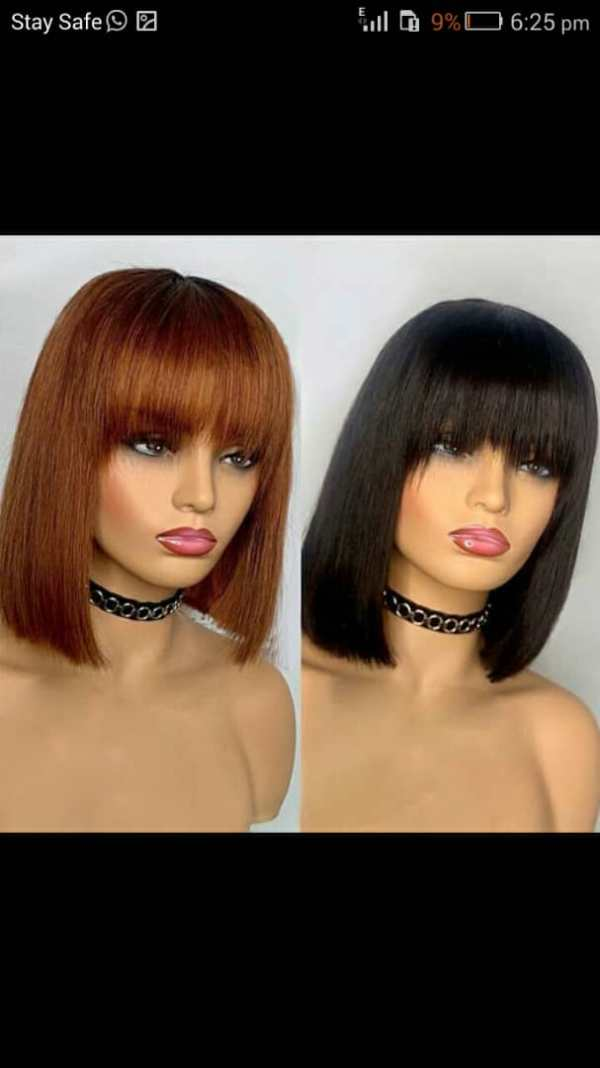 Fringe Bob Wigs For Sale In Lagos Nigeria