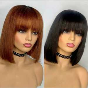 10 Inches Fringe Bob Wigs For Sale In Lagos