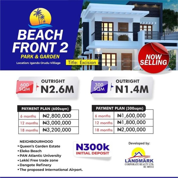 Property For Sale At Beachfront Estate Phase 2 Lekki