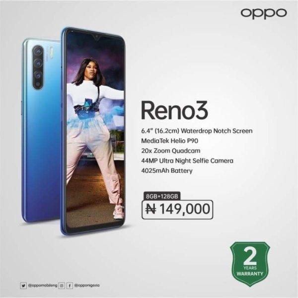 Oppo Mobile Phones In Nigeria For Sale