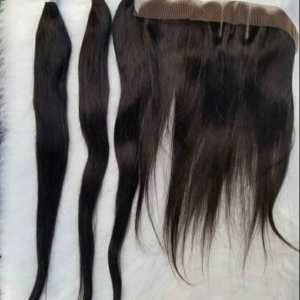 26'' Sleek Straight Human Hair Wigs For Sale In Lagos