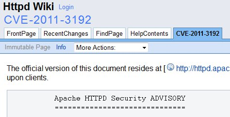 Mac Leopard Server and Range Header DoS Vulnerability Apache HTTPD