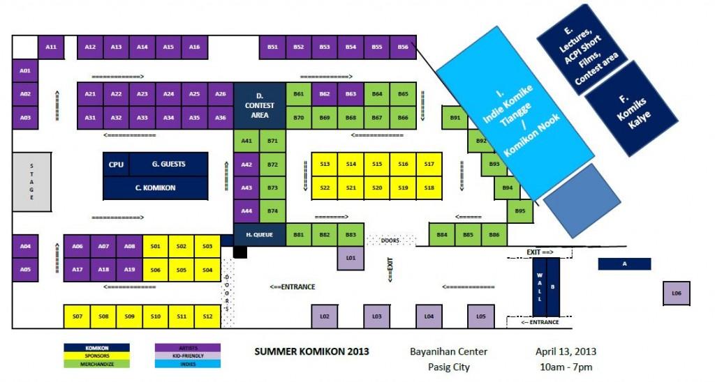 Summer Komikon 2013 floorplan